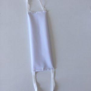 """Notice pour le masque réutilisable à plis """"Chef de file"""", blanc."""