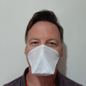 """Notice pour le masque réutilisable """"bec de canard"""" marque Bluebuck."""